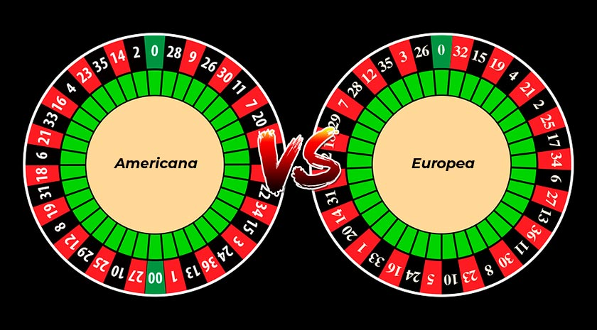 diferencias entre la ruleta americana y europea