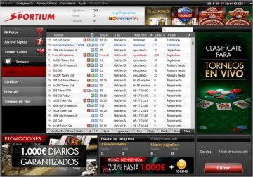 torneos sportium poker