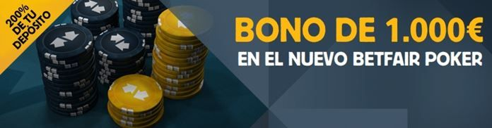 bono betfair poker