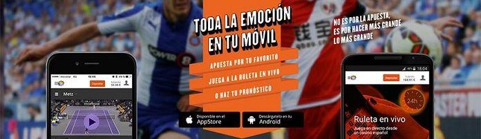 Aplicación smartphone tablet Luckia