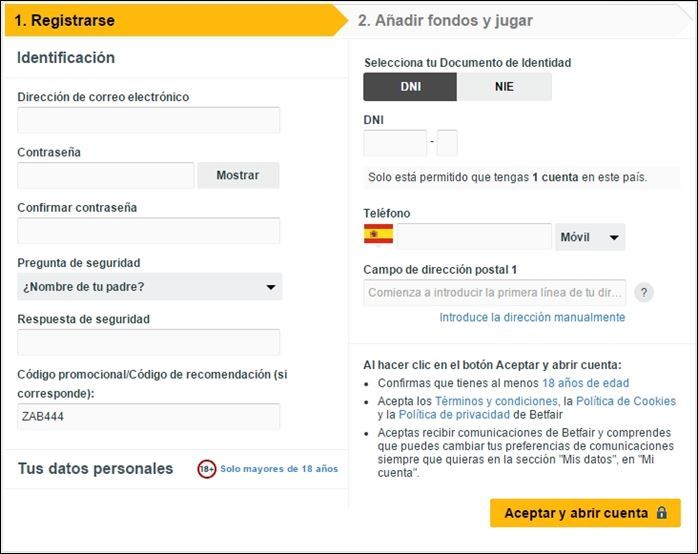 registrarse en betfair