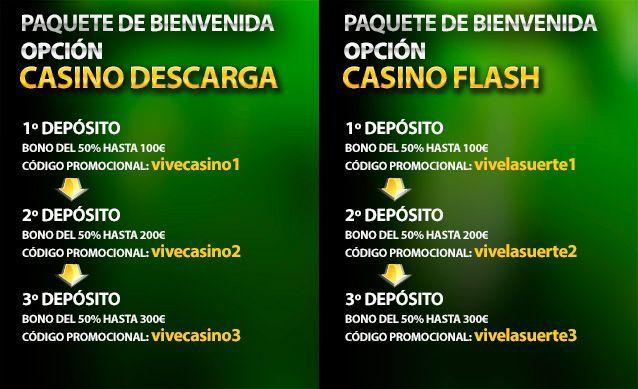 códigos bienvenida vivelasuerte casino