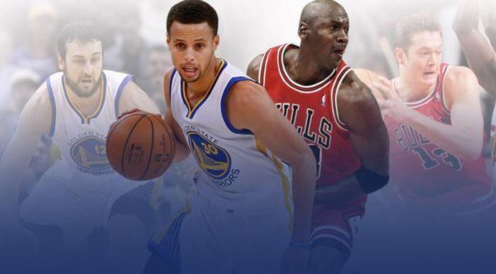 warrios vs Chicago Bulls de Michael Jordan