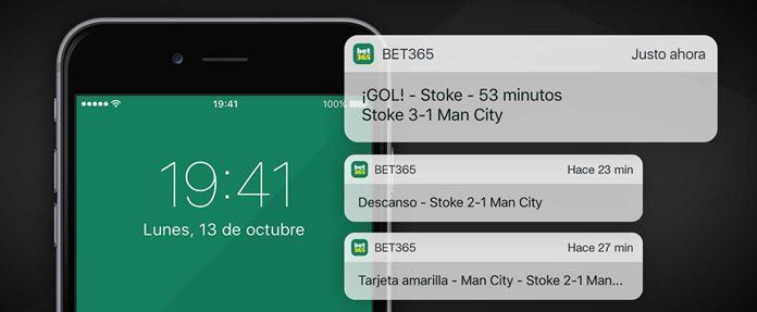 notificaciones bet365 mobile