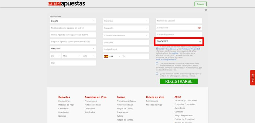 formulario de registro a marcaapuestas