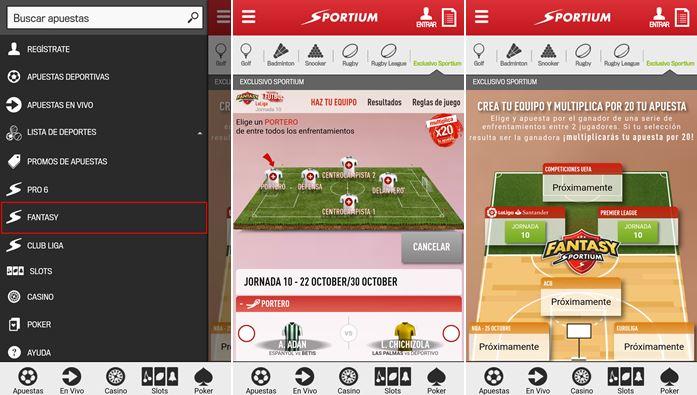 fatansy sportium app