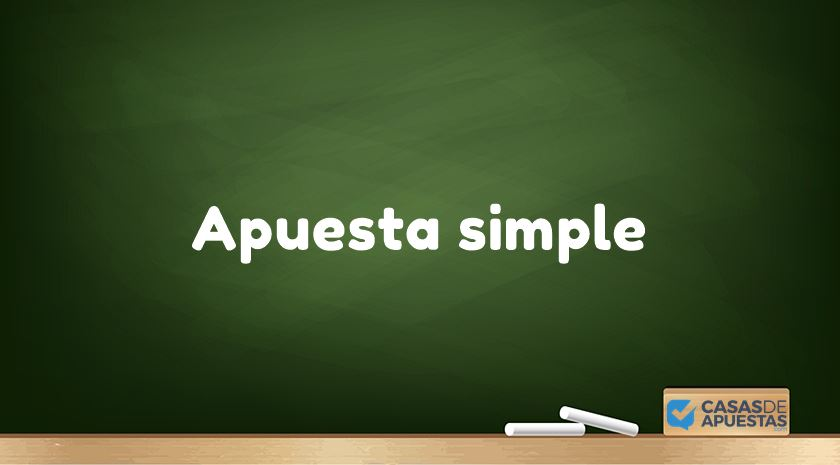 apuesta simple