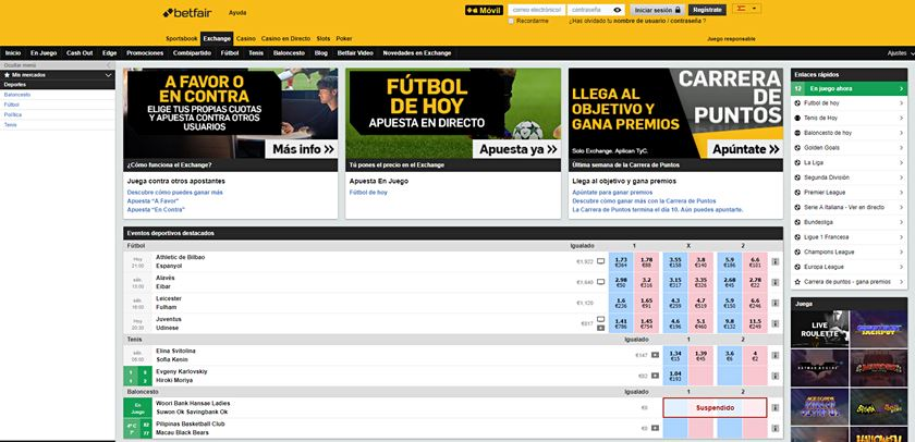 betfair exchange que es