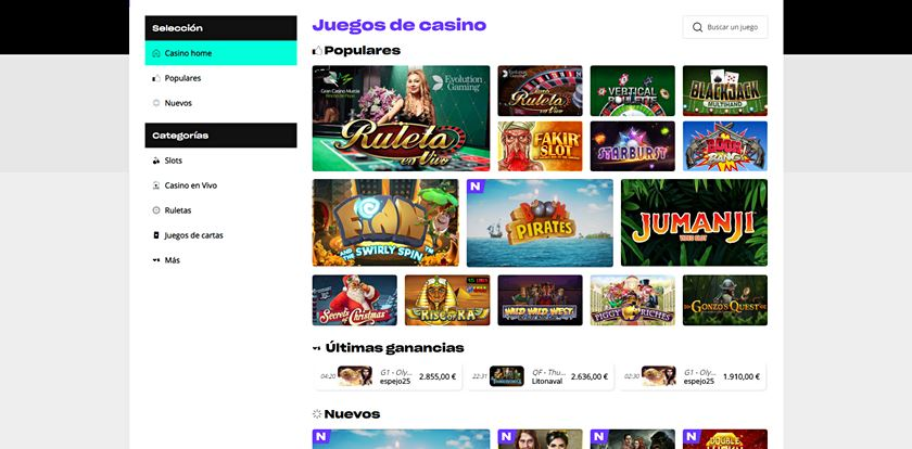 juegos casino versus
