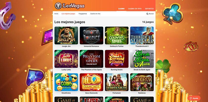 leovegas juegos casino