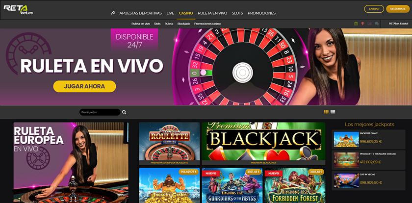 retabet casino opiniones