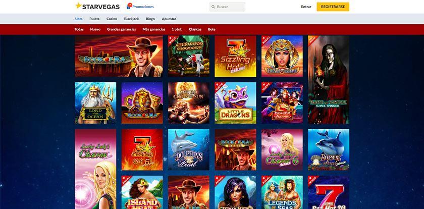 oferta de juegos en starvegas casino