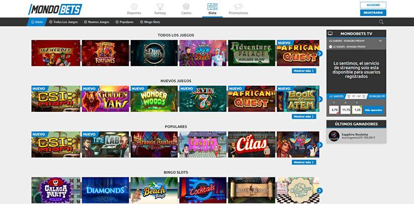 mondobets casino experiencia