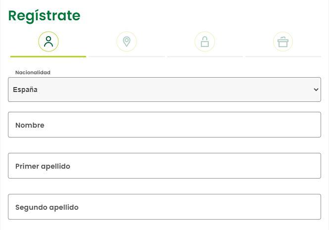 formulario de registro en sisal.es