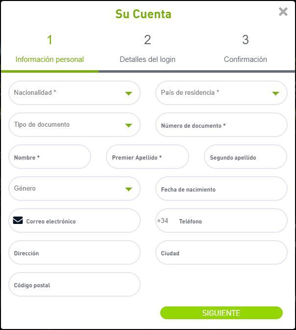 formulario de registro en bet777.es