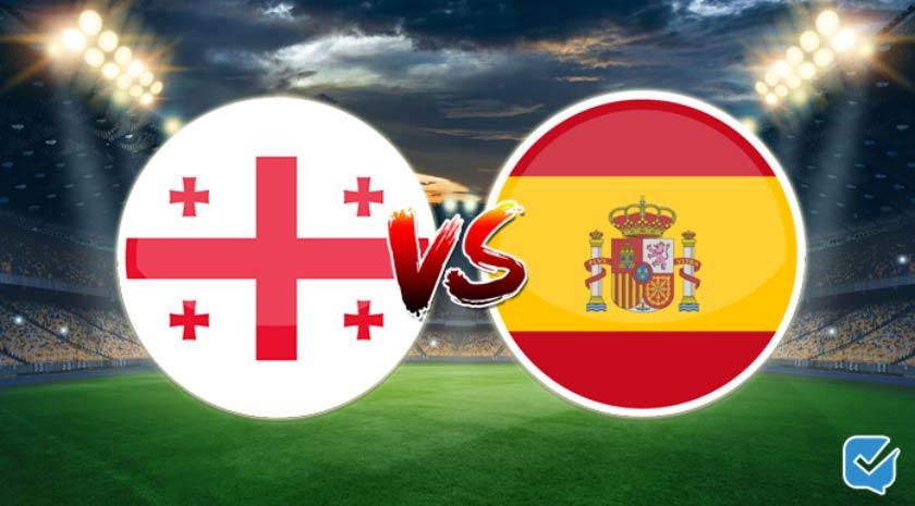 Pronóstico Georgia vs España de clasificación para el Mundial   28/03/2021