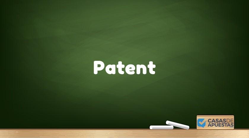 qué es apuesta patent