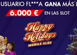 La slot Happy Holidays de Suertia reparte un bote de más de 6.000€