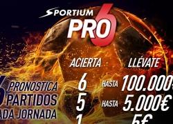 PRO 6 de Sportium: ¡Hasta 100.000€ cada semana!